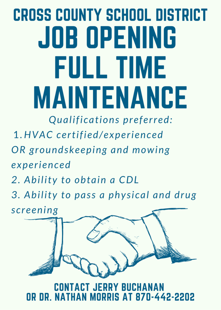 Full Time Maintenance Position Open