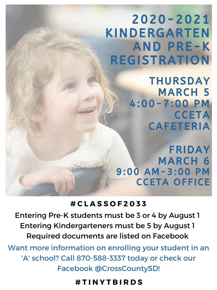 Kindergarten and Pre-K Registration
